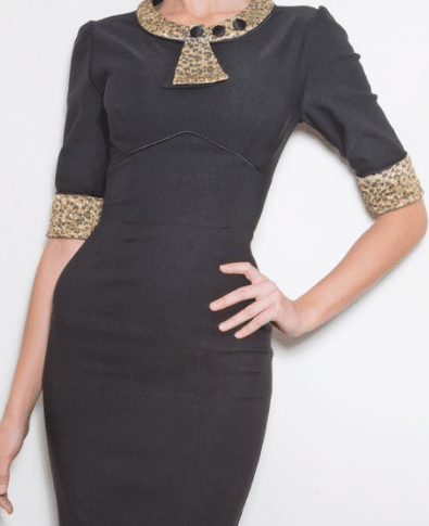 Stop Staring 30s Bombshell Black and Leopard 2