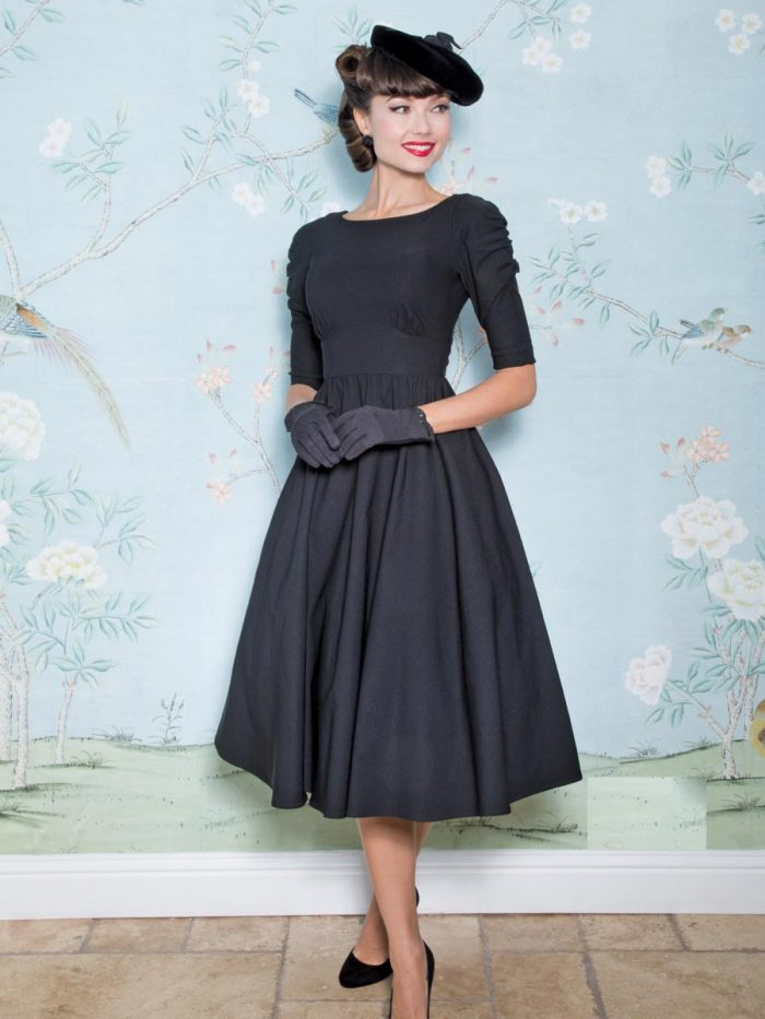 Stop-Staring-October-Swing-Dress-Black
