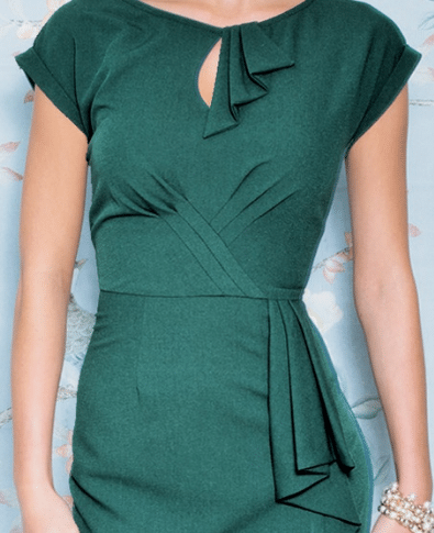 Stop Staring Timeless Dress in Forest Green 1