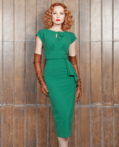 Stop Staring Timeless Dress in Green 2