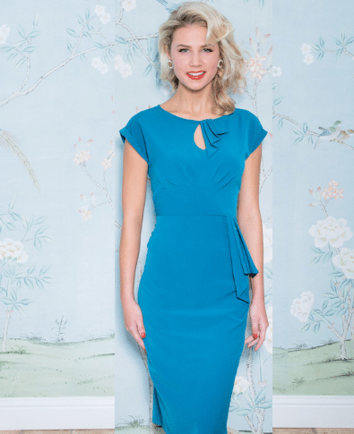 Stop Staring Timeless Dress in Peacock Blue 2