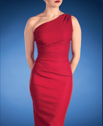 Stop Staring Gathered Ava Dress Red