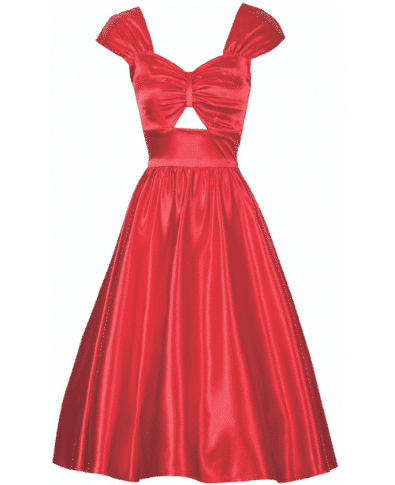 Stop Staring Phoebe Dress Red Satin