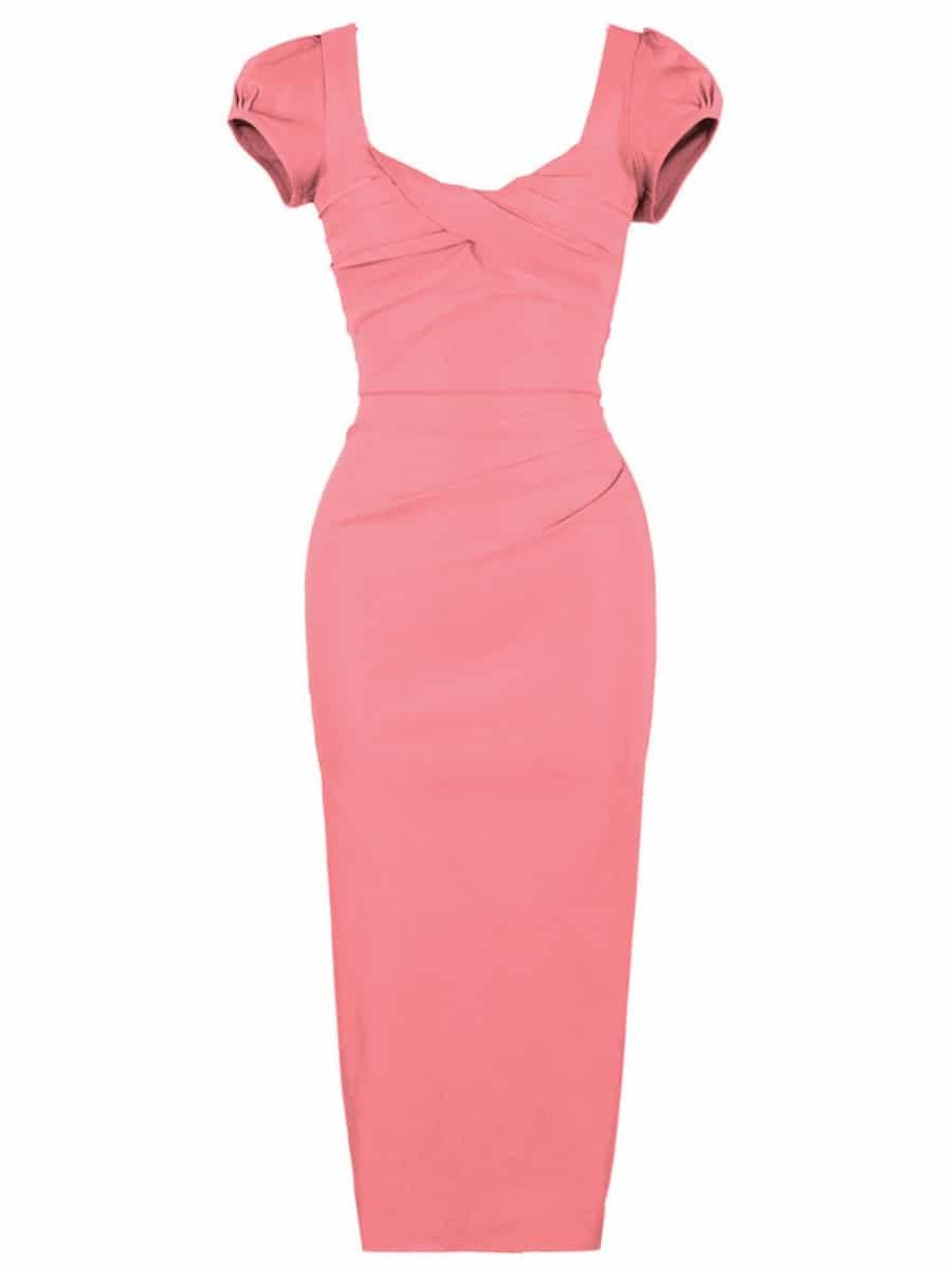 Stop Staring! Billion Dollar Baby Dress in Coral Pink