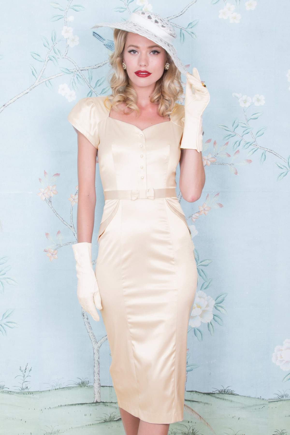 Stop Staring Lauree Dress Ivory Satin