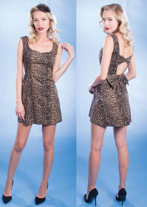 Stop Staring Kitty Playsuit Leopard Print