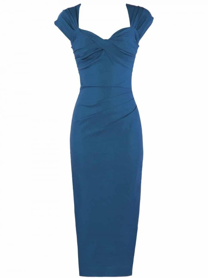 Stop-Staring-Love-Dress-in-Peacock-Blue-Cutout