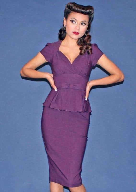 Stop Staring Obsession Dress in Eggplant
