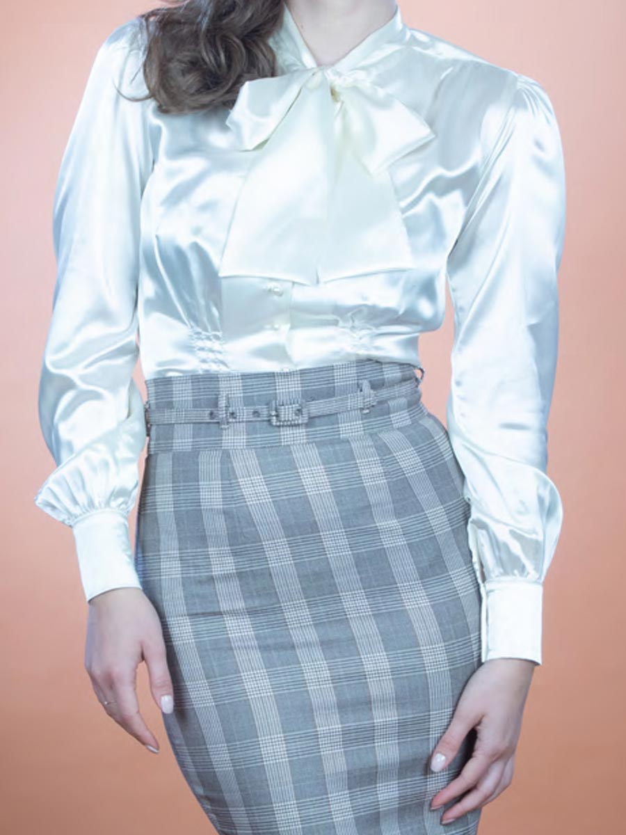 Stop Staring Innocence Blouse in Cream Close-Up