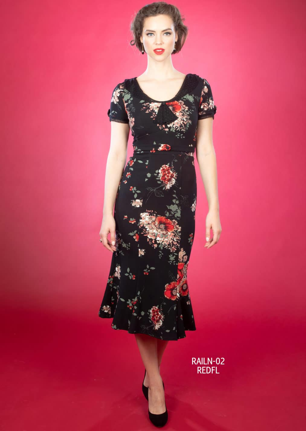 Stop Staring Raileen Dress Red Floral