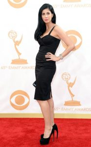 Sarah Silverman wearing Stop Staring to the Emmys