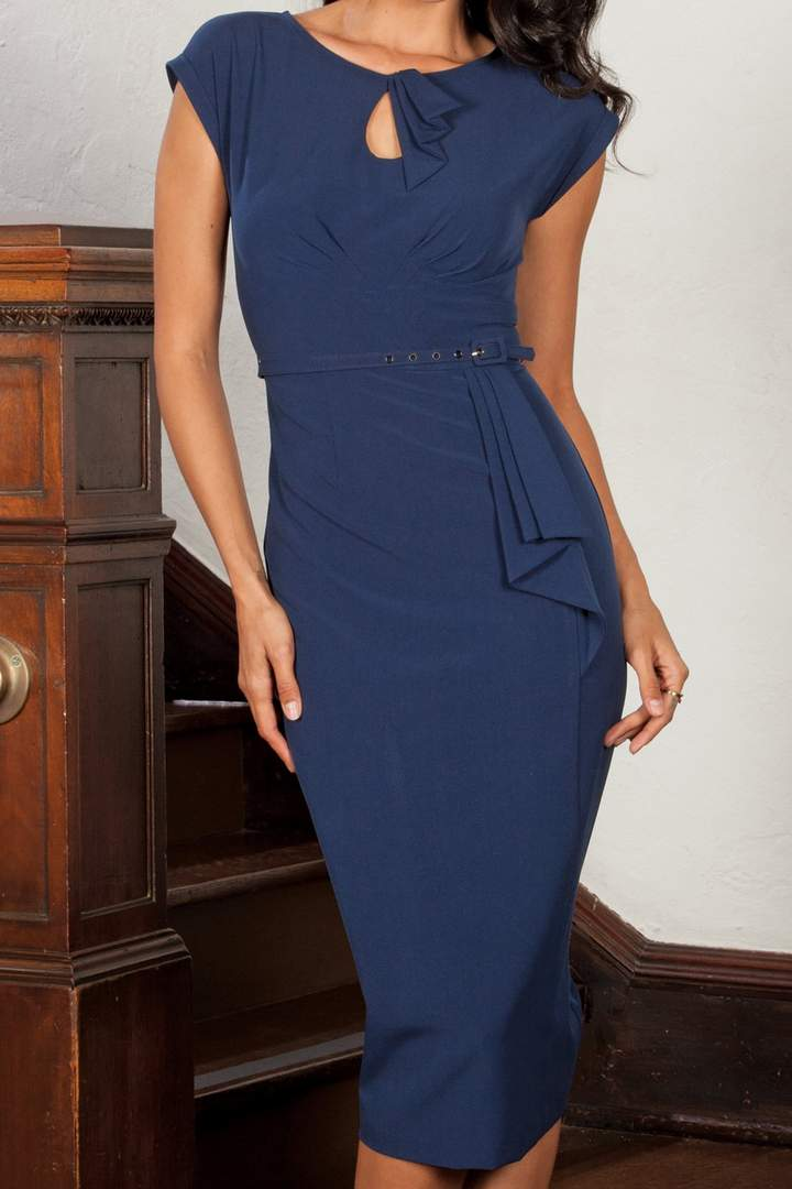 Stop Staring Timeless Dress in Navy