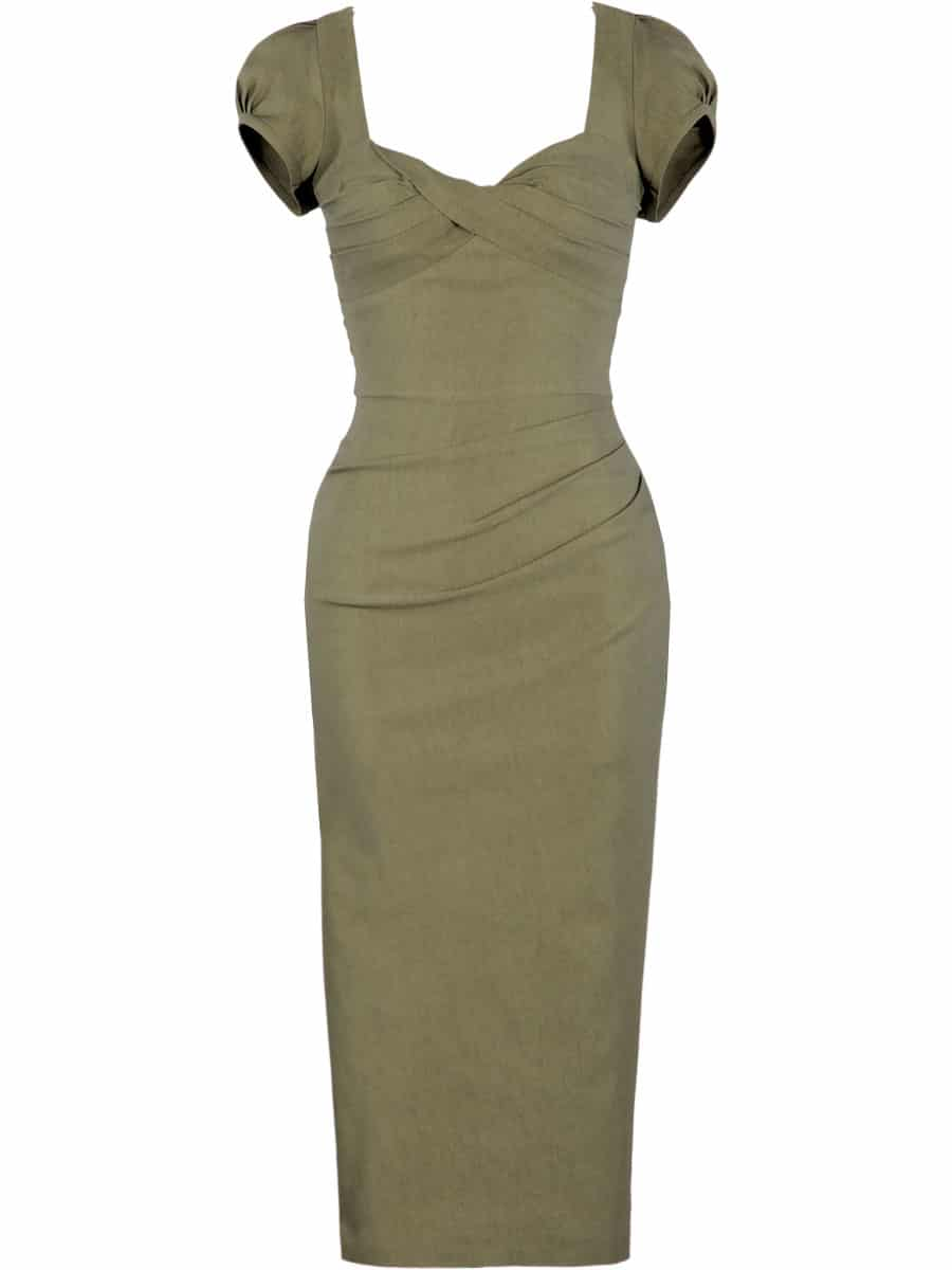 Stop-Staring-Billion-Dollar-Baby-Dress-Olivegreen
