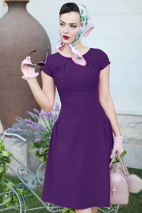 Stop Staring Abella Dress in Eggplant