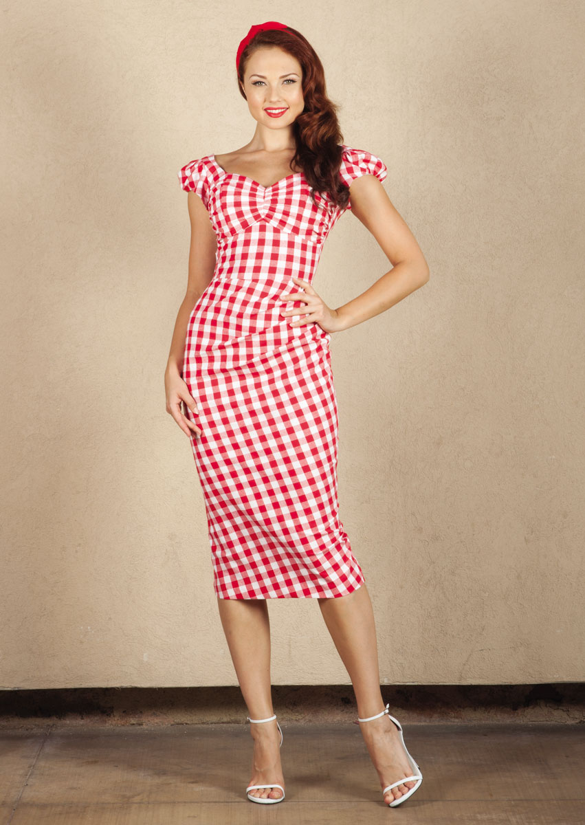 Stop-Staring-Avery-Red-Gingham-Dress-on-Model