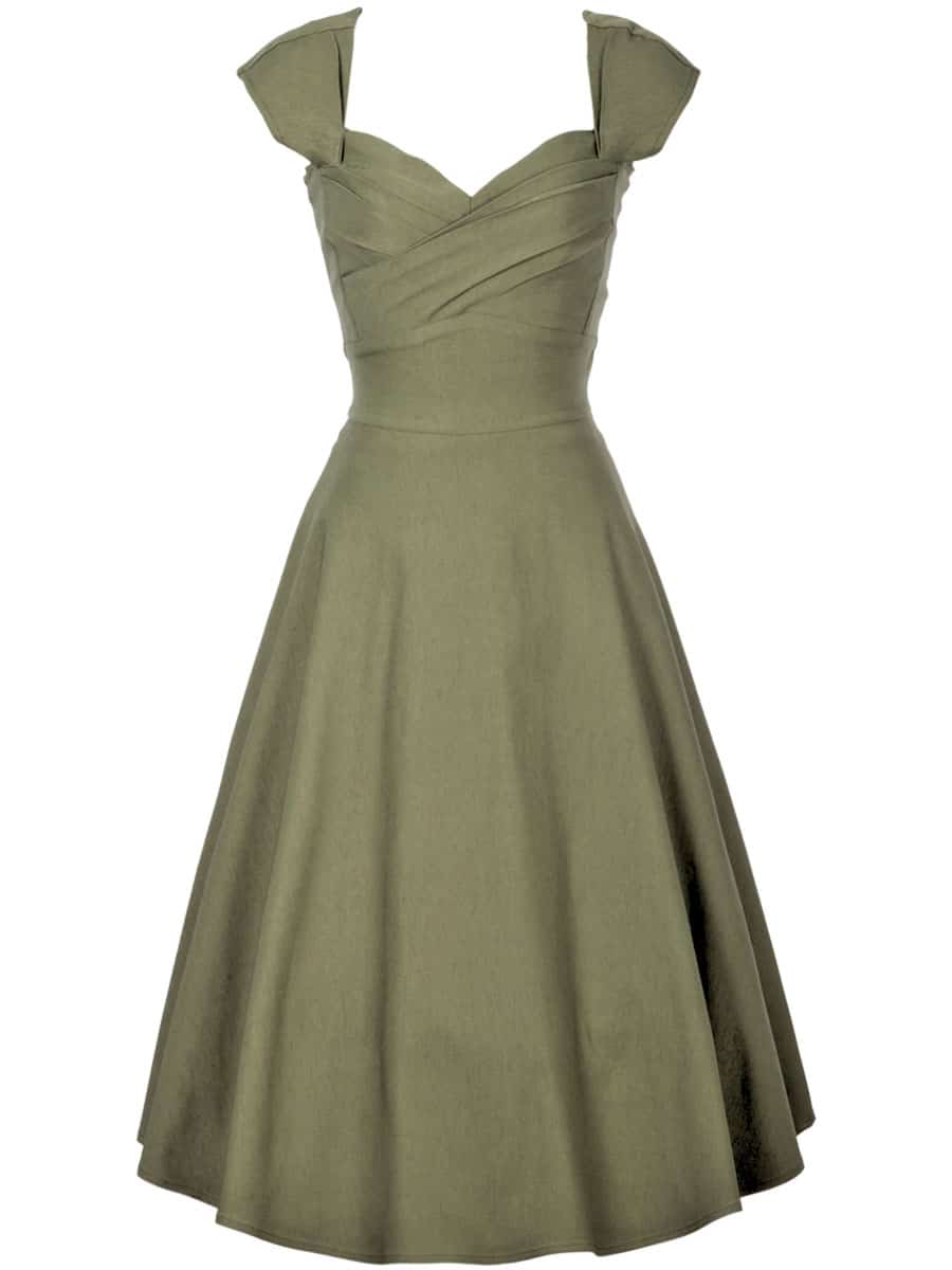Stop-Staring-Mad-Style-Swing-Dress-Olive-Green