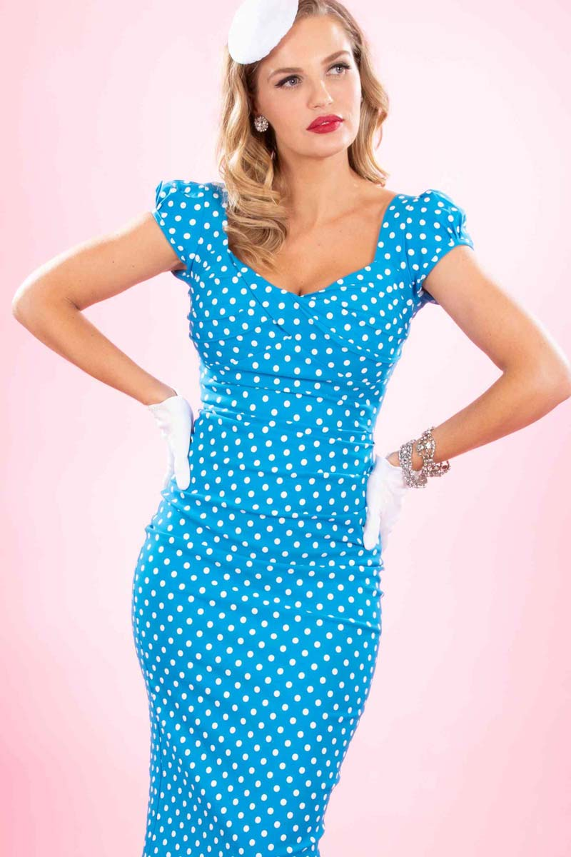 Stop-Staring-Billion-Dollar-Baby-Dress-Turquoise-Dots
